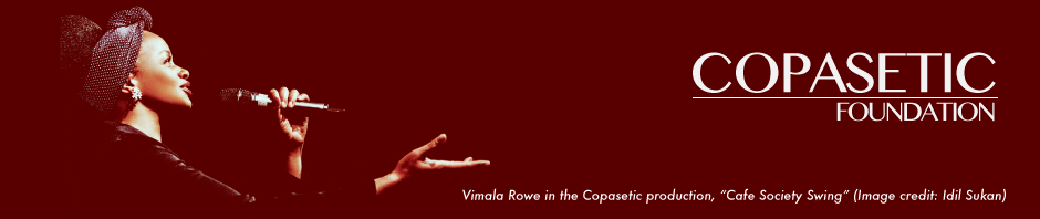 "Vimala Rowe in the Copasetic production, ""Cafe Society Swing"" (Image credit: Idil Sukan)"